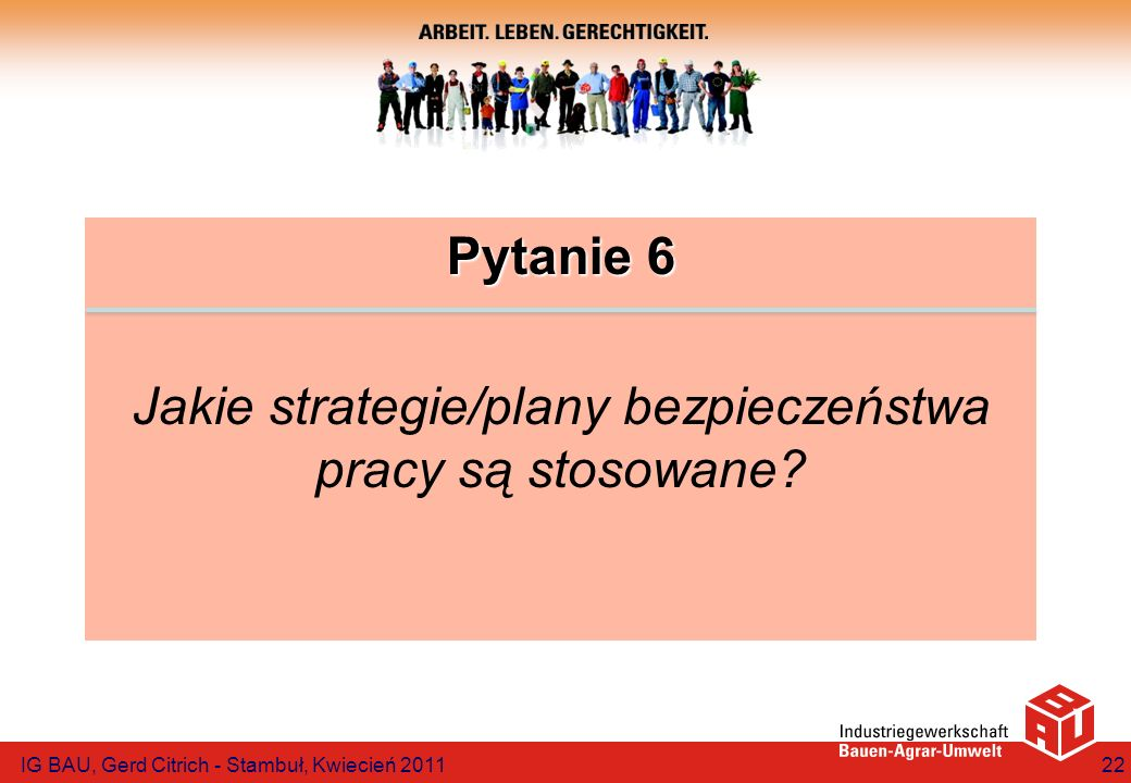 Jakie strategie/plany bezpieczeństwa pracy są stosowane