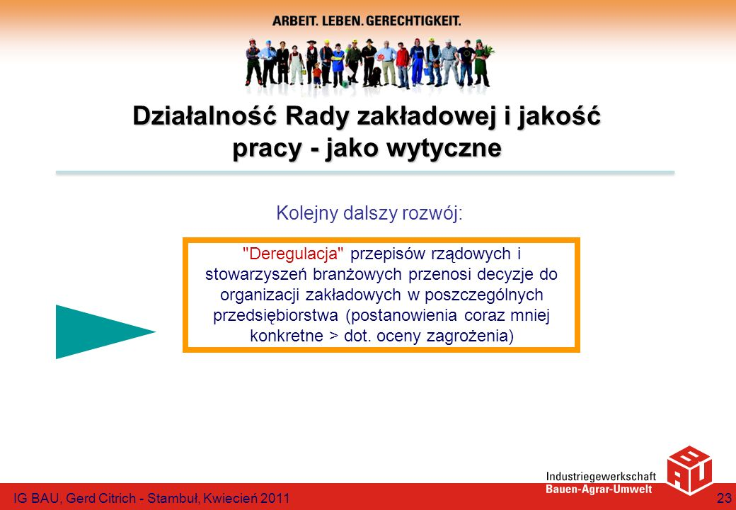 Działalność Rady zakładowej i jakość pracy - jako wytyczne
