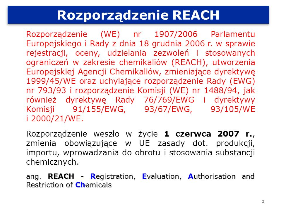 Rozporządzenie REACH
