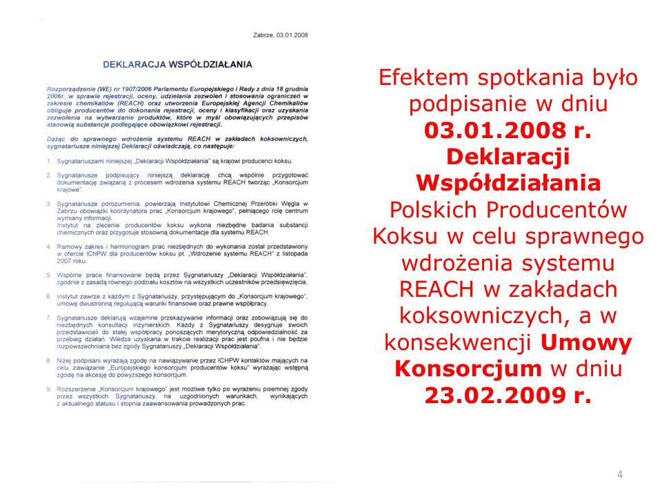 Efektem spotkania było podpisanie w dniu 03. 01. 2008 r