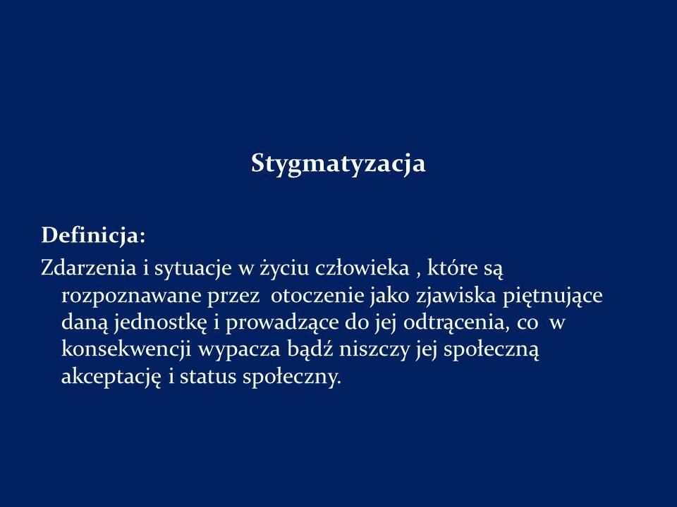 Stygmatyzacja Definicja: