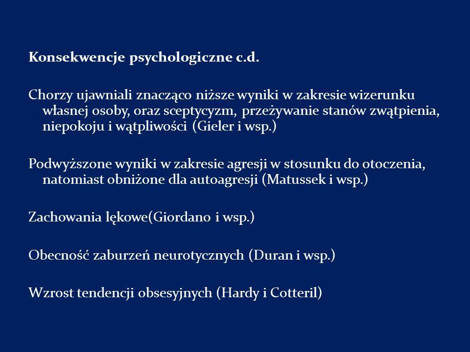 Konsekwencje psychologiczne c.d.
