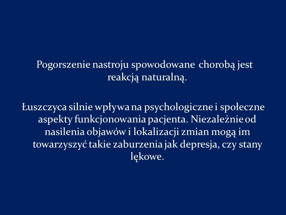 Pogorszenie nastroju spowodowane chorobą jest reakcją naturalną