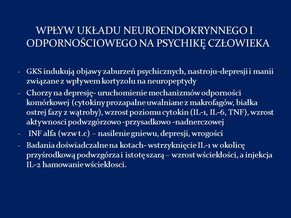 WPŁYW UKŁADU NEUROENDOKRYNNEGO I ODPORNOŚCIOWEGO NA PSYCHIKĘ CZŁOWIEKA