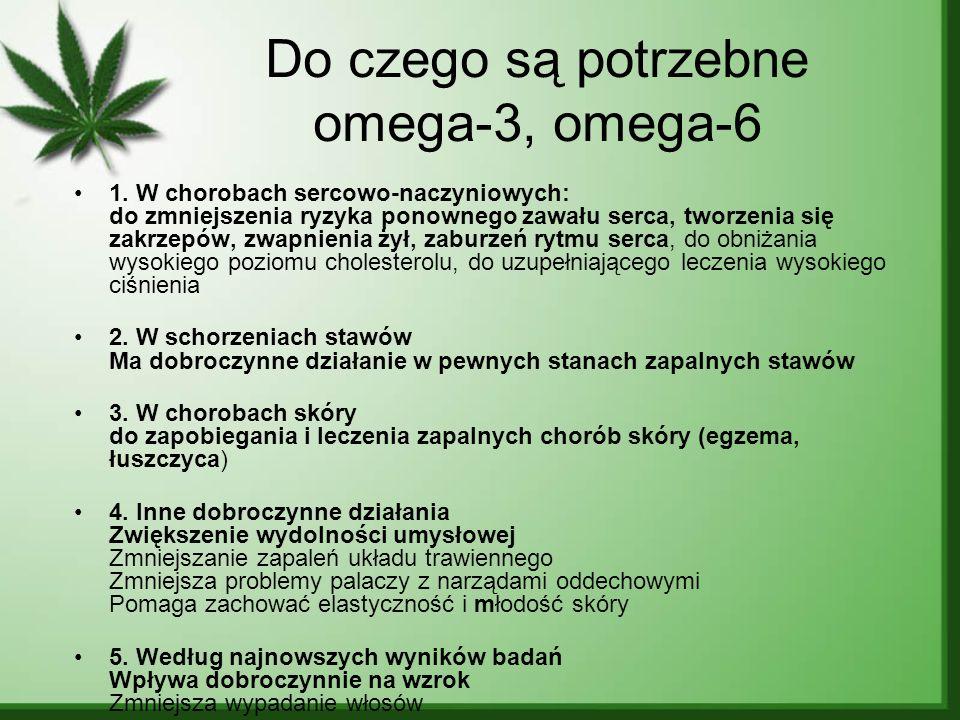 Do czego są potrzebne omega-3, omega-6