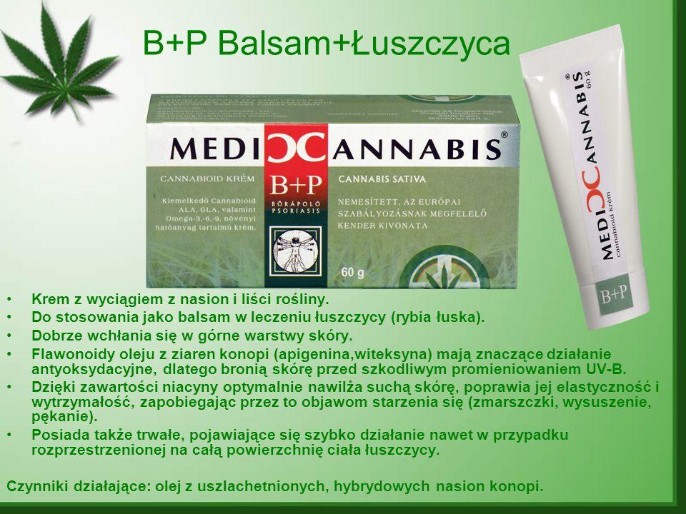 B+P Balsam+Łuszczyca Krem z wyciągiem z nasion i liści rośliny.