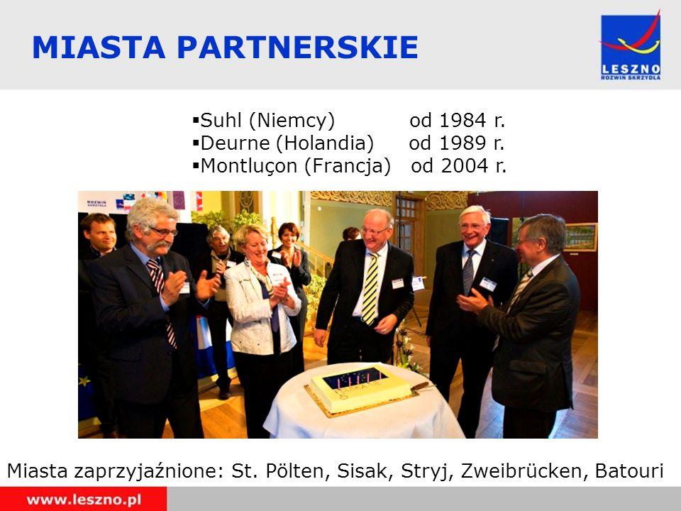 MIASTA PARTNERSKIE Suhl (Niemcy) od 1984 r.