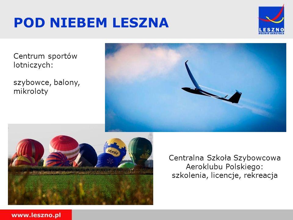 POD NIEBEM LESZNA Centrum sportów lotniczych:
