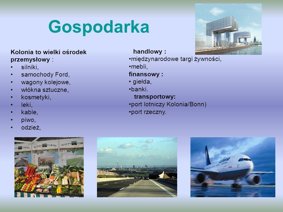 Gospodarka Kolonia to wielki ośrodek międzynarodowe targi żywności,