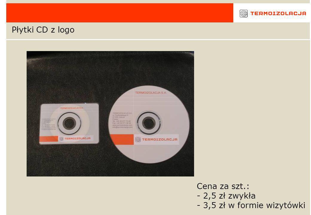Płytki CD z logo Cena za szt.: 2,5 zł zwykła 3,5 zł w formie wizytówki