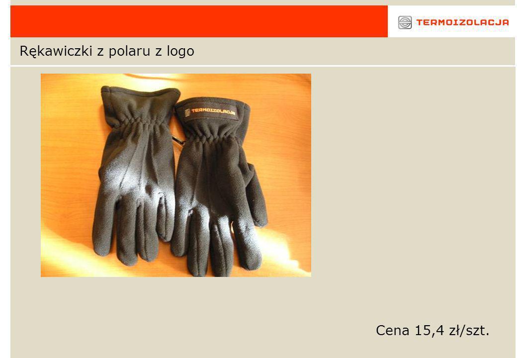 Rękawiczki z polaru z logo