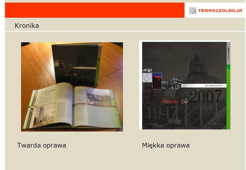 Kronika Twarda oprawa Miękka oprawa