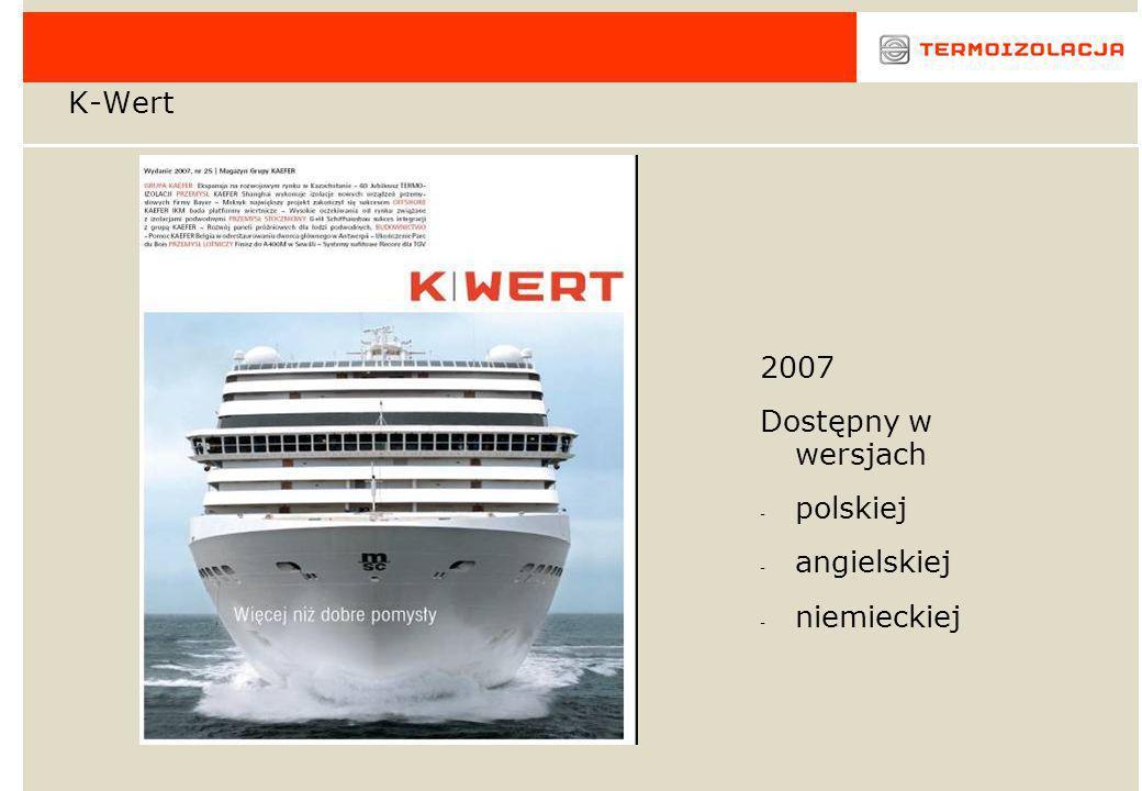 K-Wert 2007 Dostępny w wersjach polskiej angielskiej niemieckiej