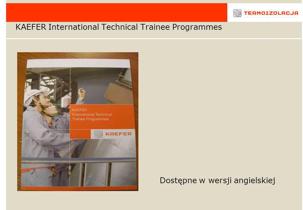 KAEFER International Technical Trainee Programmes