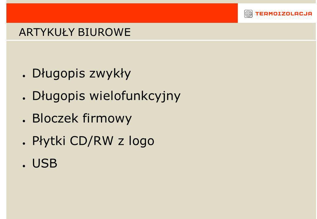 Długopis wielofunkcyjny Bloczek firmowy Płytki CD/RW z logo USB