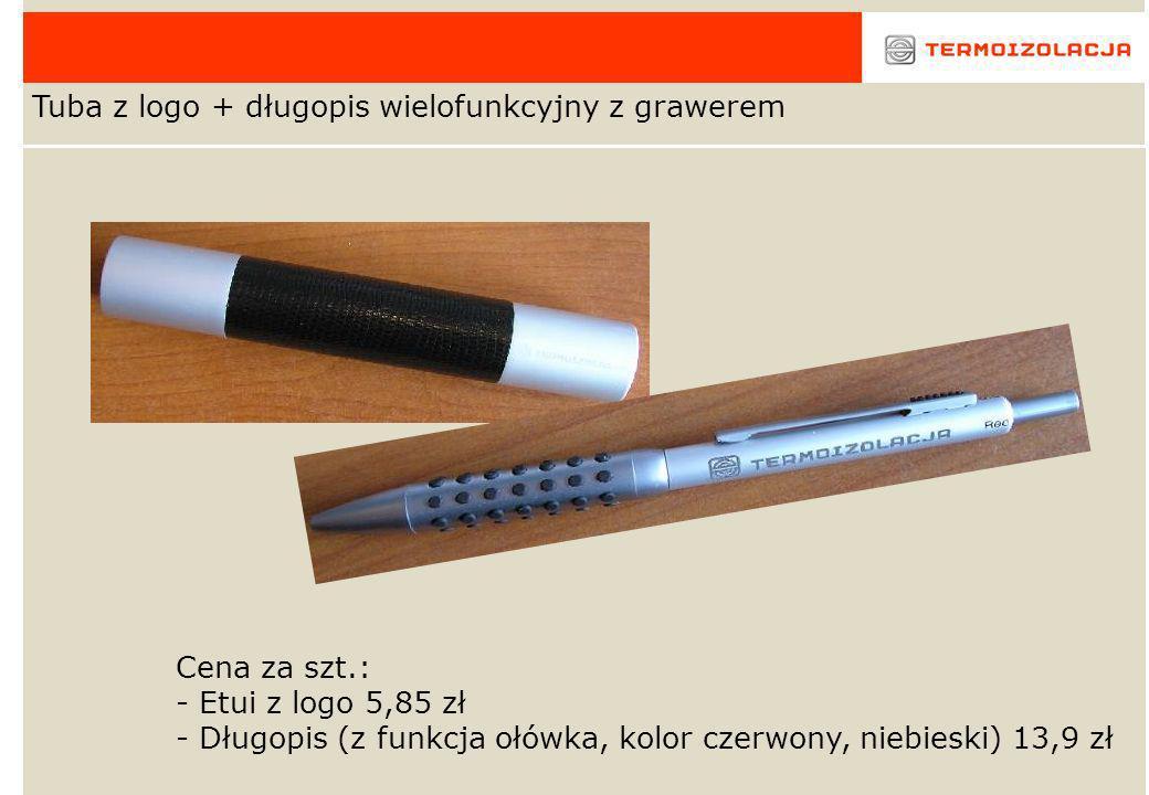 Tuba z logo + długopis wielofunkcyjny z grawerem