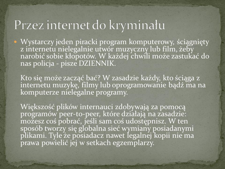 Przez internet do kryminału