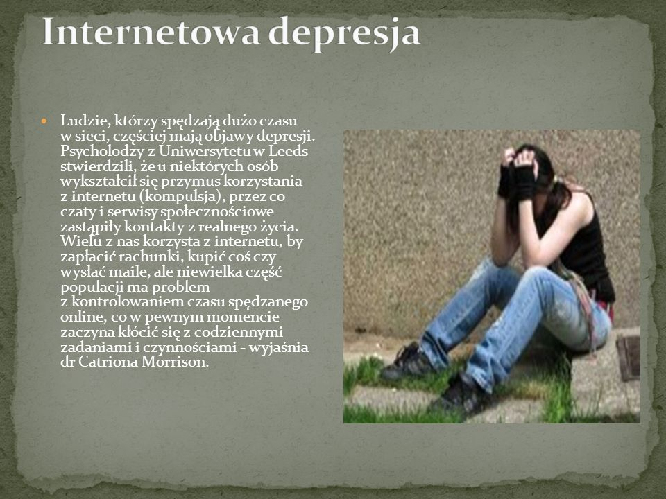 Internetowa depresja