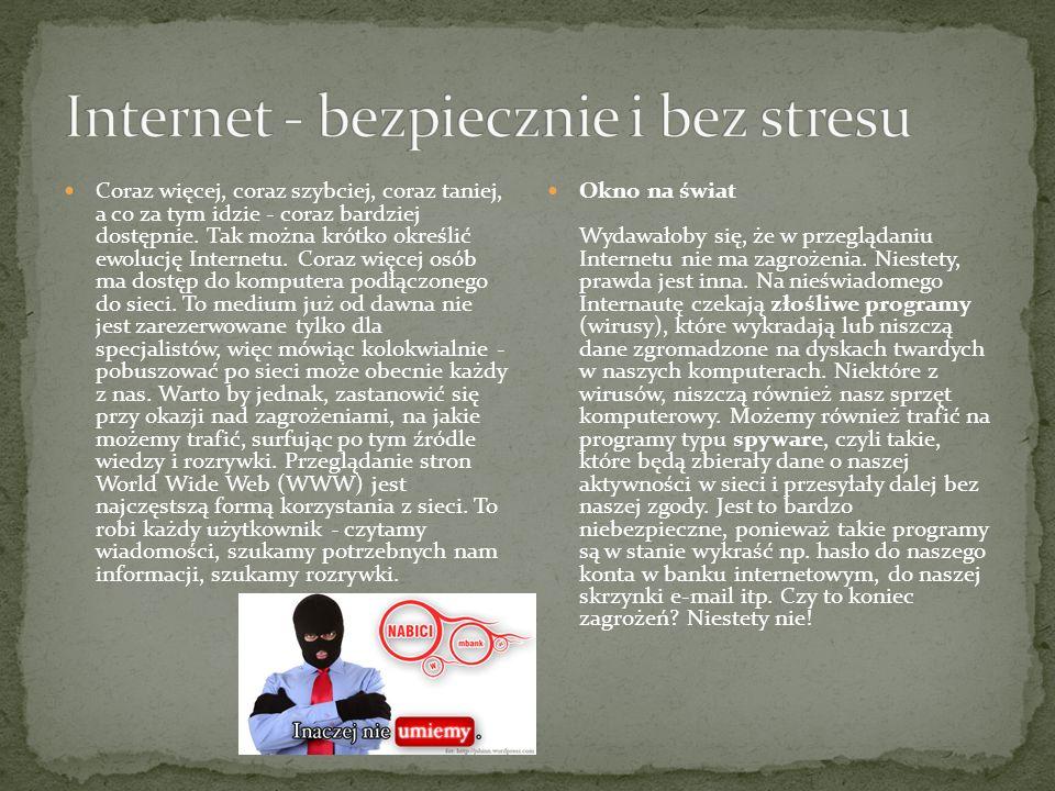 Internet - bezpiecznie i bez stresu