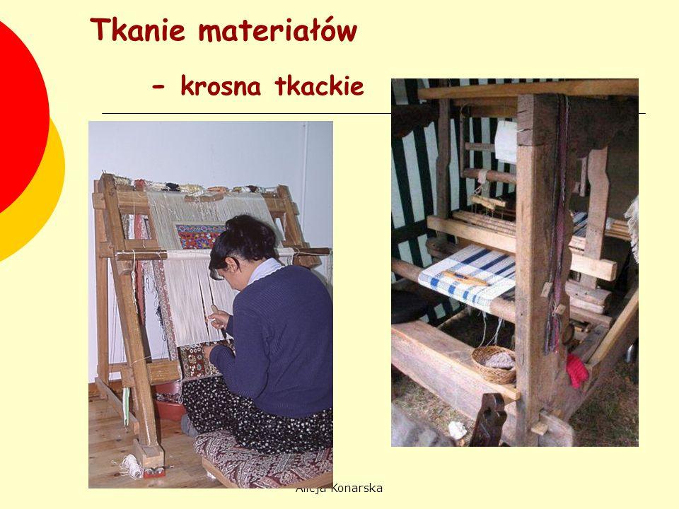 Tkanie materiałów - krosna tkackie Alicja Konarska