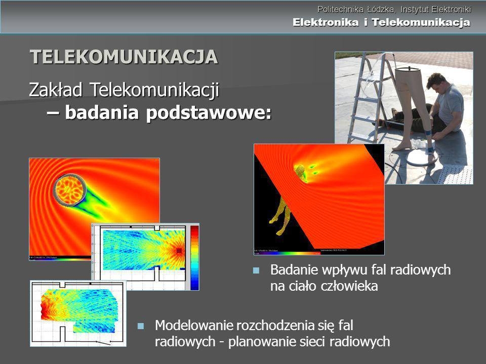 Zakład Telekomunikacji – badania podstawowe: