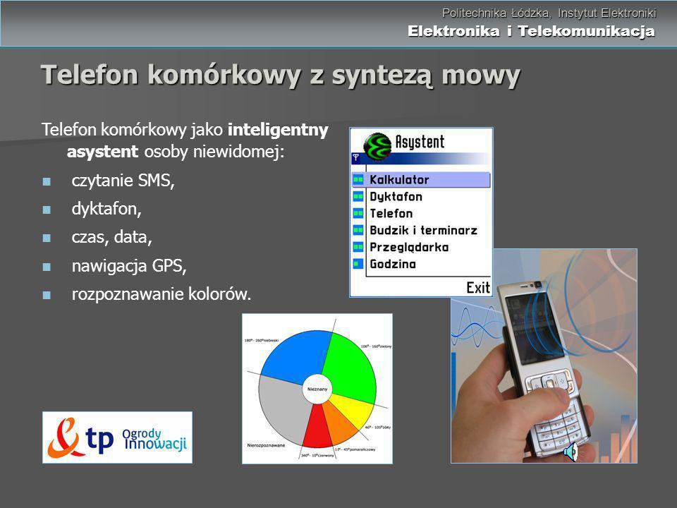 Telefon komórkowy z syntezą mowy