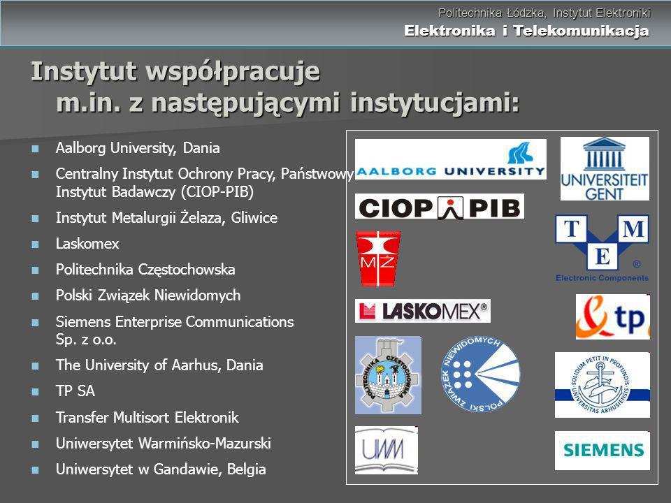 Instytut współpracuje m.in. z następującymi instytucjami: