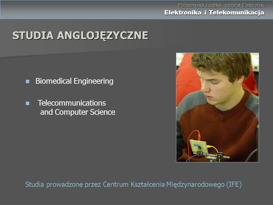 STUDIA ANGLOJĘZYCZNE Biomedical Engineering