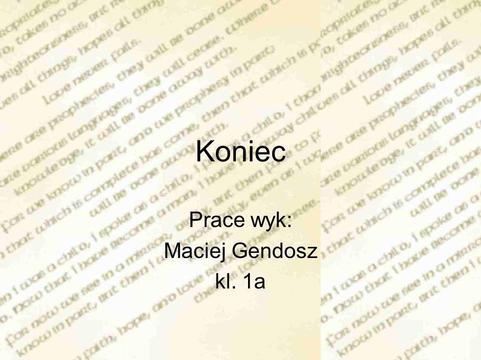 Prace wyk: Maciej Gendosz kl. 1a