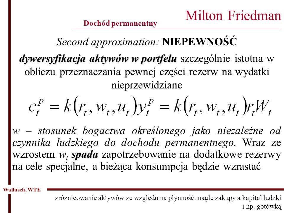 Second approximation: NIEPEWNOŚĆ
