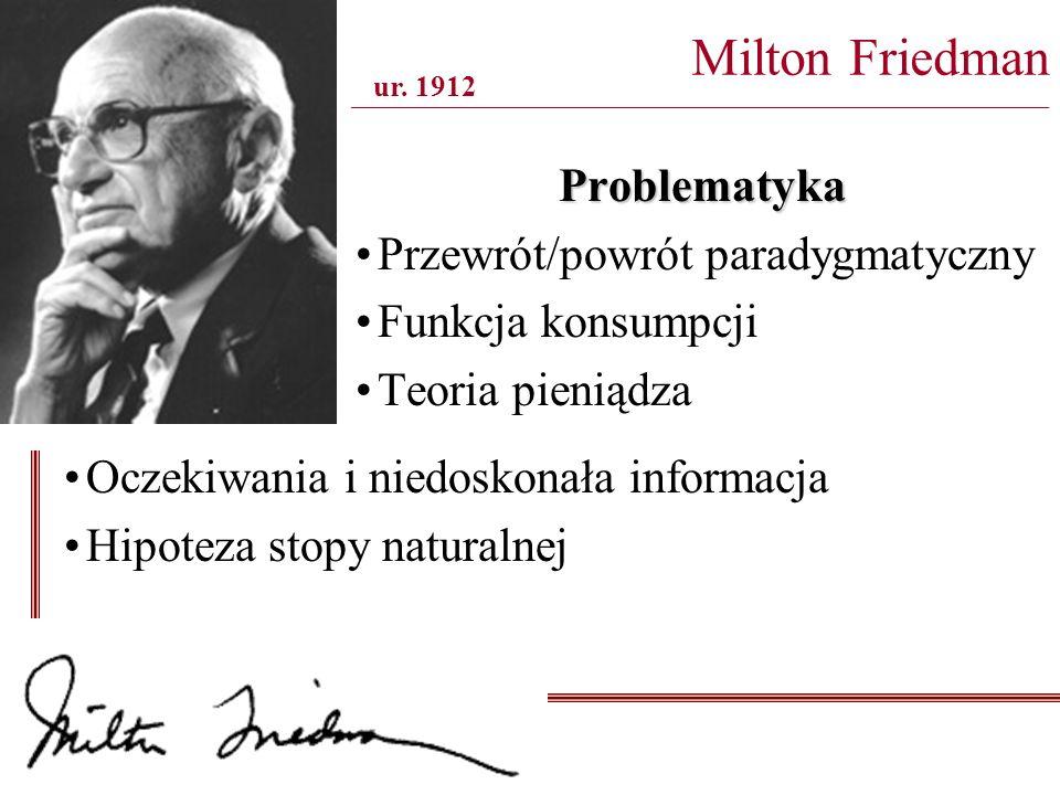 Milton Friedman _______________________________________________________________________________