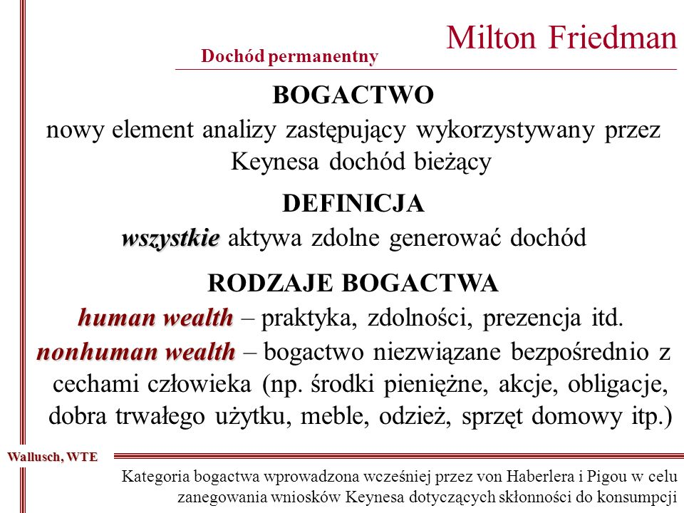 Milton Friedman ________________________________________________________________________________________
