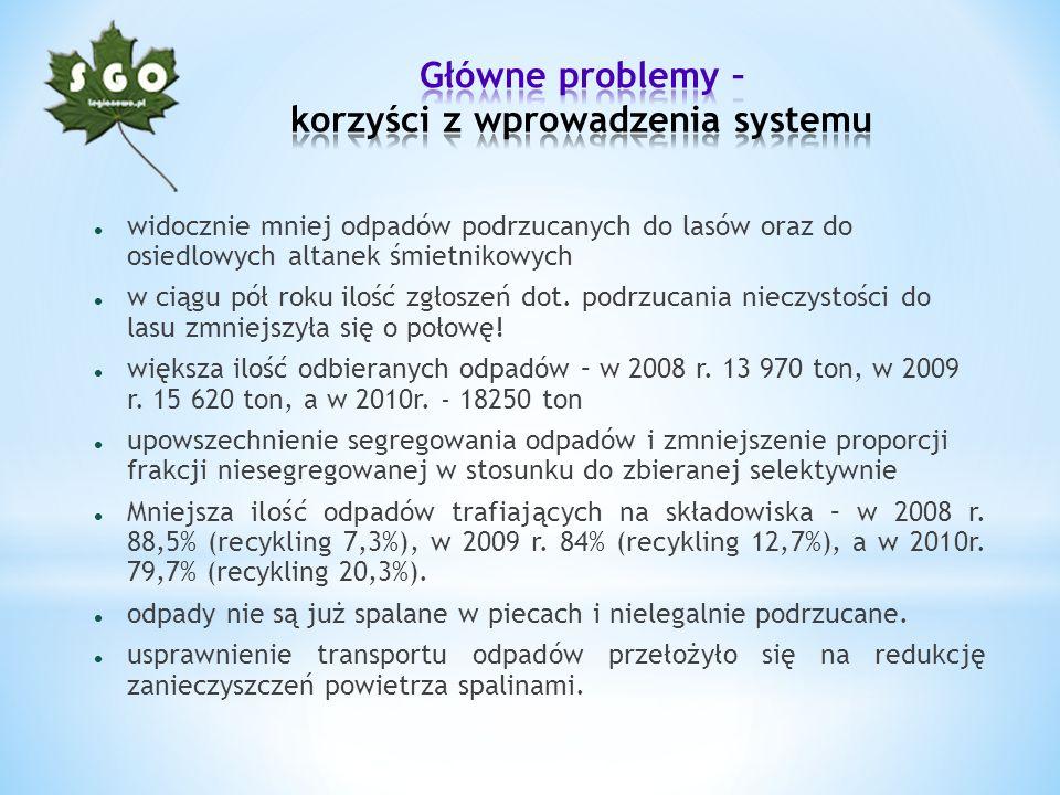 Główne problemy – korzyści z wprowadzenia systemu