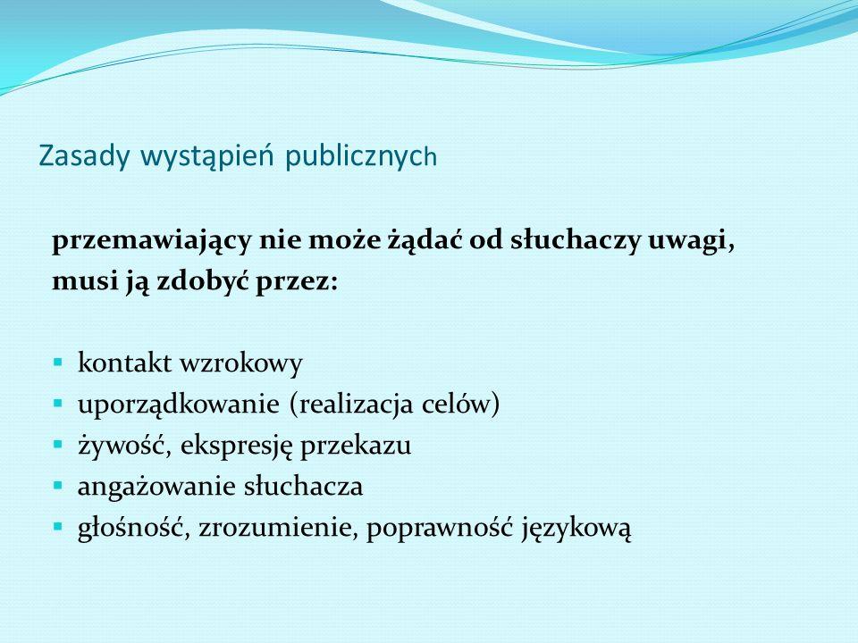 Zasady wystąpień publicznych