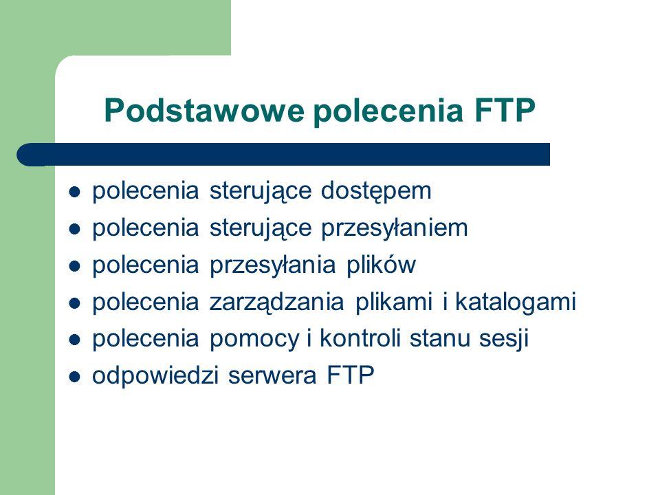 Podstawowe polecenia FTP