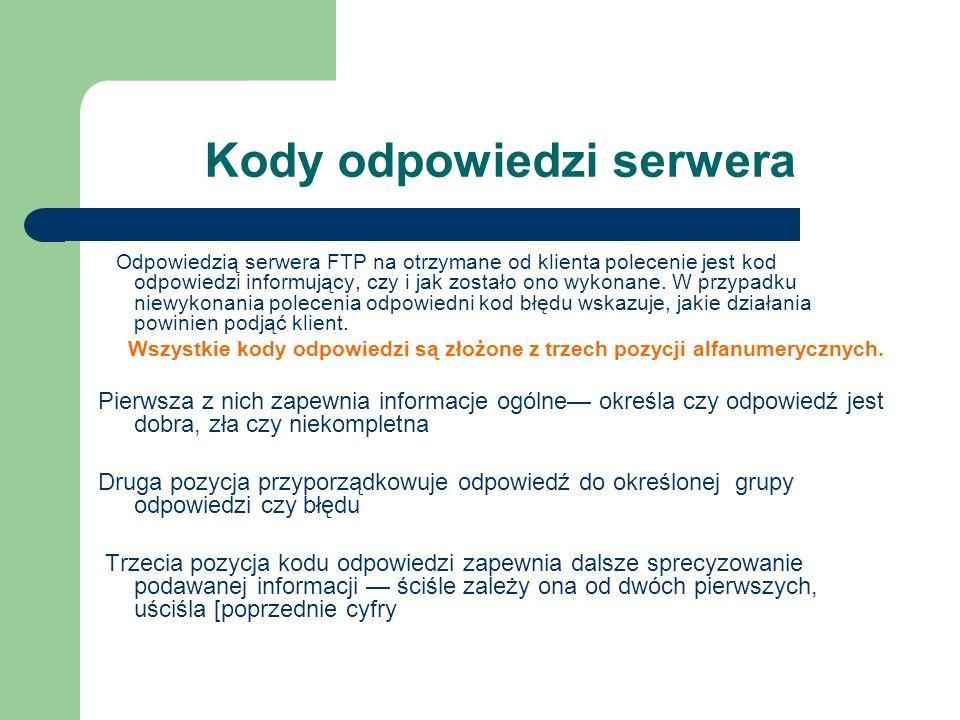 Kody odpowiedzi serwera