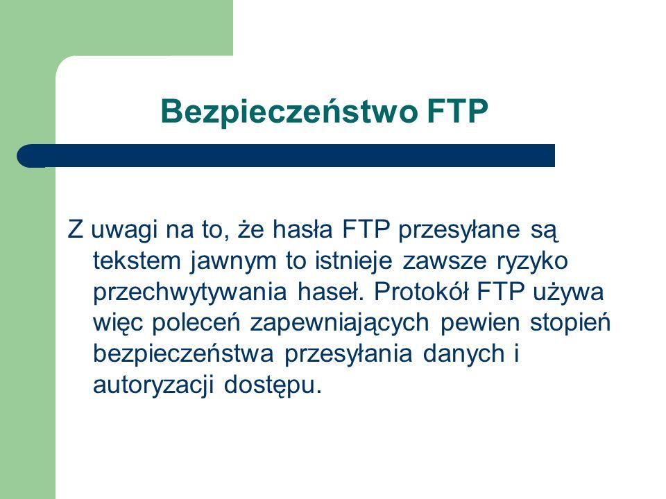 Bezpieczeństwo FTP
