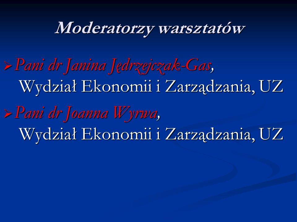Moderatorzy warsztatów