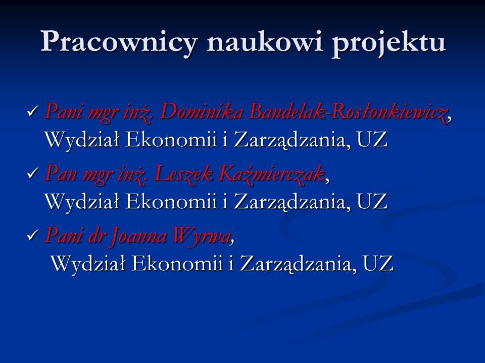 Pracownicy naukowi projektu