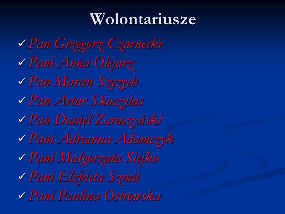 Wolontariusze Pan Grzegorz Czarnecki Pani Anna Olejarz