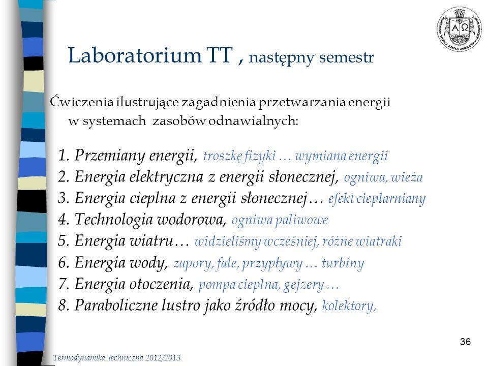 Laboratorium TT , następny semestr