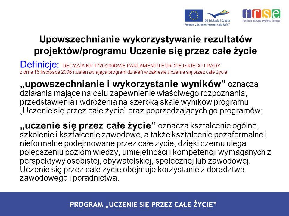 Definicje: DECYZJA NR 1720/2006/WE PARLAMENTU EUROPEJSKIEGO I RADY