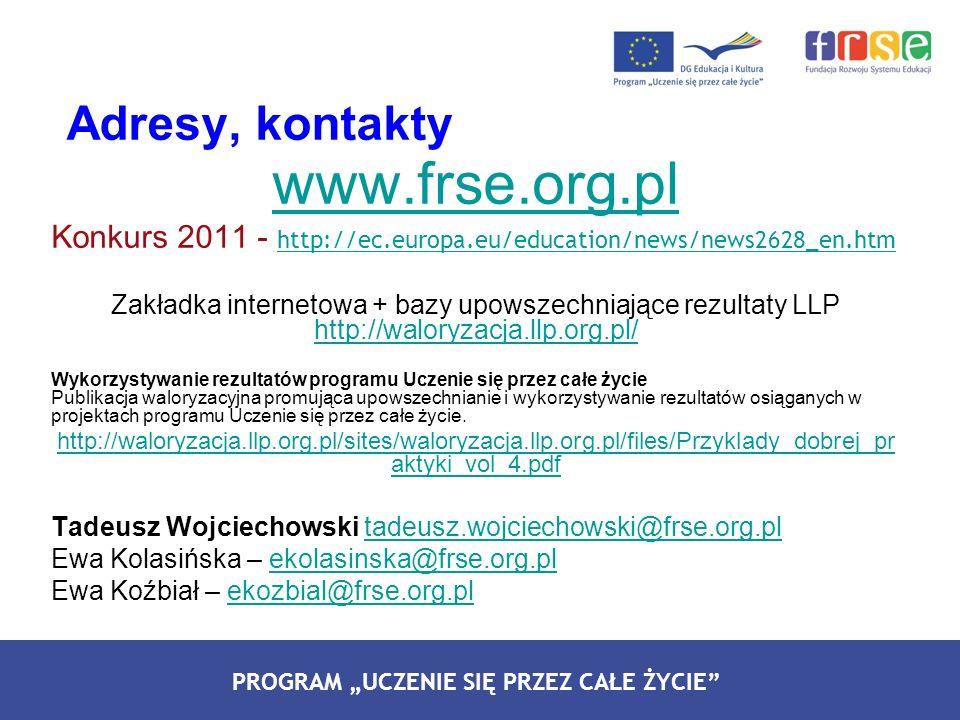 www.frse.org.pl Adresy, kontakty