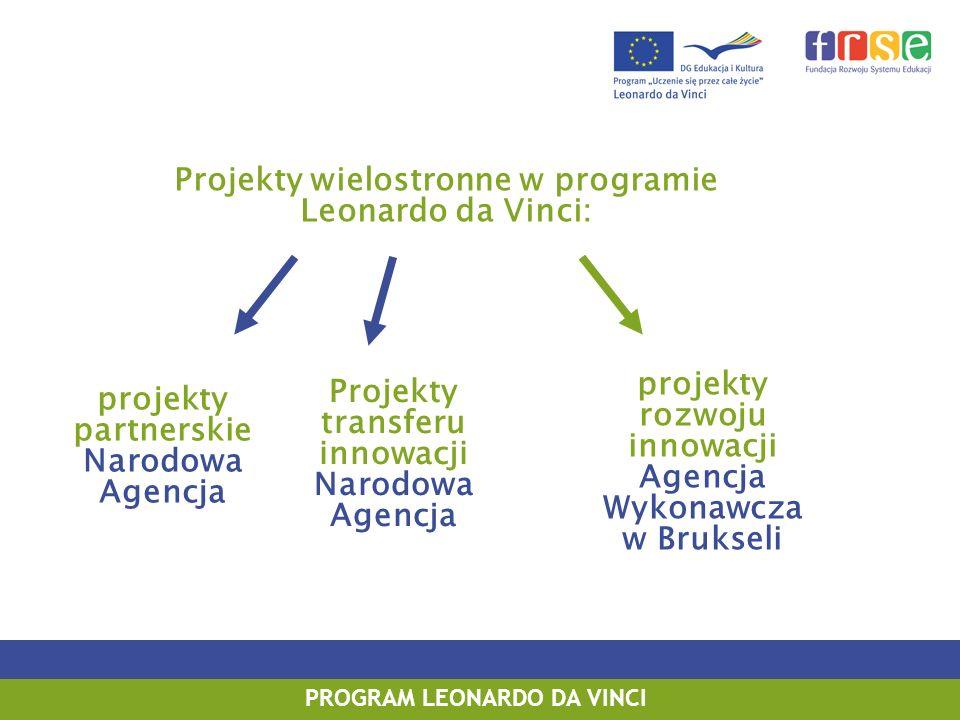 Projekty wielostronne w programie Leonardo da Vinci: