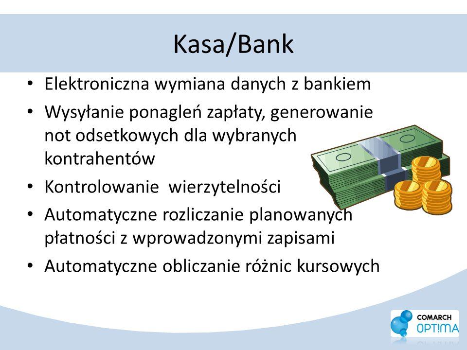 Kasa/Bank Elektroniczna wymiana danych z bankiem