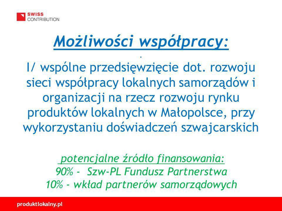 Możliwości współpracy:. I/ wspólne przedsięwzięcie dot