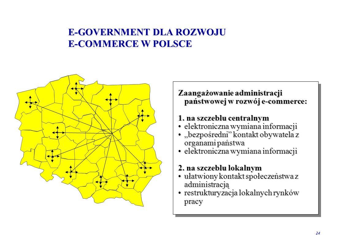 E-GOVERNMENT DLA ROZWOJU E-COMMERCE W POLSCE
