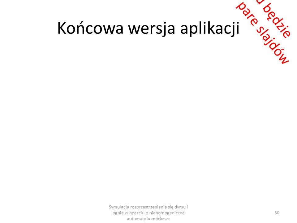 Końcowa wersja aplikacji