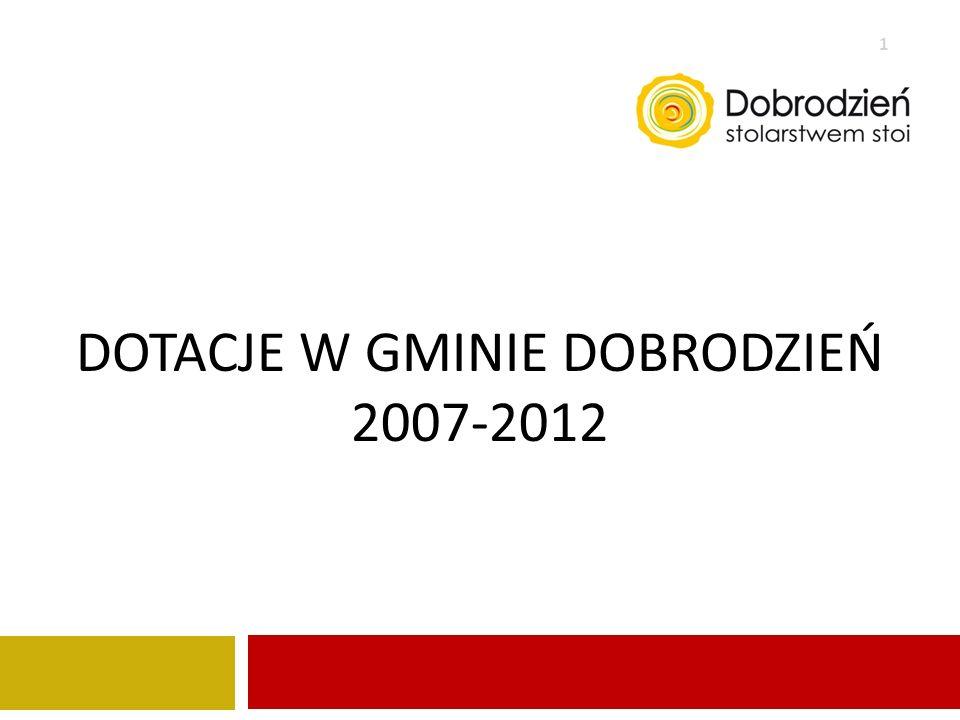 dotacje W gminie Dobrodzień 2007-2012