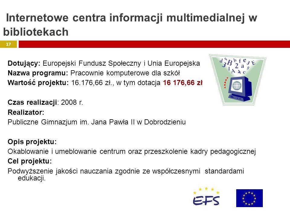Internetowe centra informacji multimedialnej w bibliotekach
